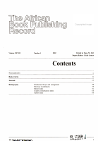 The African Book Publishing Record PDF