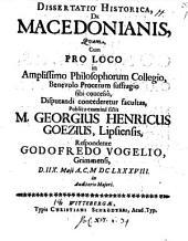 Diss. hist. de Macedonianis