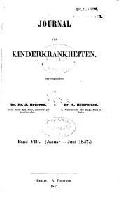Journal für Kinderkrankheiten: Bände 8-9