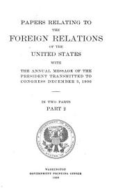 Papers Relating to the Foreign Relations of the United States: Part 2