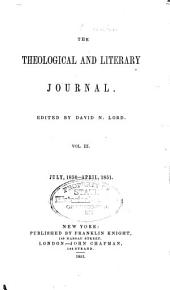 The Theological and Literary Journal: Volume 3