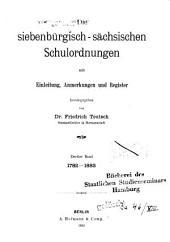 Die Siebenbürgisch-sächsischen Schulordnungen: mit Einleitung, Anmerkungen und Register, Band 13