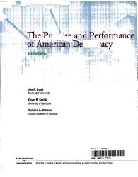 The Promise and Performance of American Democracy PDF