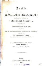 Archiv für katholisches Kirchenrecht: Band 23
