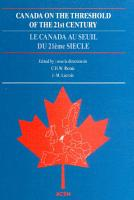 Canada on the Threshold of the 21st Century PDF