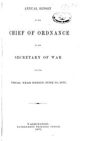 Annual Report of the Chief of Ordnance...