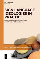 Sign Language Ideologies in Practice PDF