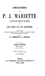 Abecedario de P.J. Mariette: et autres notes inédites de cet amateur sur les arts et les artistes
