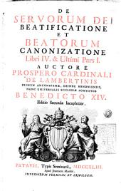 De servorum Dei: beatificatione et beatorum canonizatione