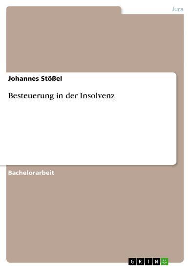 Besteuerung in der Insolvenz PDF