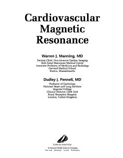 Cardiovascular Magnetic Resonance PDF