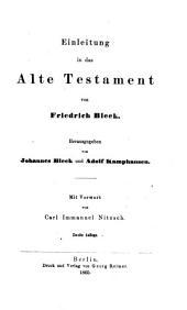 Einleitung in die Heilige Schrift: Band 1