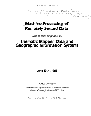 Machine Processing of Remotely Sensed Data PDF