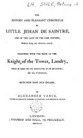 The History and Pleasant Chronicle of Little Jehan de Saintr   and of the Fair Cousins PDF