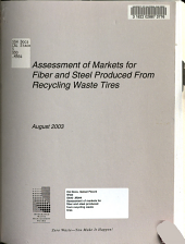 Assessment of Markets for Fiber and Steel Produced from Recycling Waste Tires
