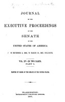 Journal of the Executive Proceedings of the Senate of the United States PDF