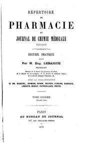 Répertoire de pharmacie: Volume6