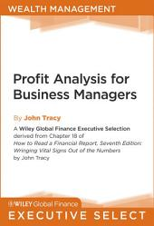 Profit Analysis for Business Managers: Edition 7