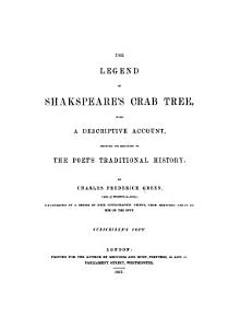 The Legend of Shakespeare s Crab Tree