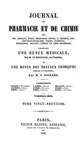 Journal de pharmacie et de chimie: Volume 29 ;Volume 1856