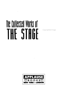 The Collected Works of Paddy Chayefsky  The stage plays PDF