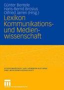 Lexikon Kommunikations  und Medienwissenschaft PDF