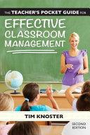 The Teacher s Pocket Guide for Effective Classroom Management PDF