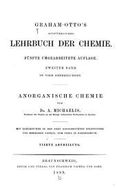 Graham-Otto's ausführliches lehrbuch der chemie: Teil 1