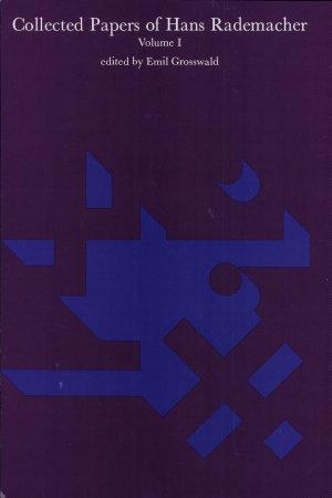 Collected papers of Hans Rademacher  1