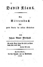 David Klaus: Ein sittenbuch für gute leute in allen ständen