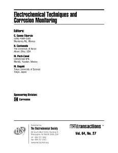 Electrochemical Techniques and Corrosion Monitoring