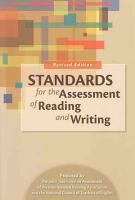 Standards for the Assessment of Reading and Writing PDF