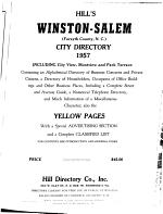 Walsh's Winston-Salem, North Carolina, City Directory ...