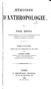 Mémoires d'anthropologie: Volume5