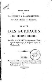 Application de l'algèbre a la géometrie; par mm. Monge et Hachette