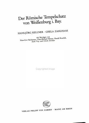 Der r  mische Tempelschatz von Weissenburg i  Bay PDF