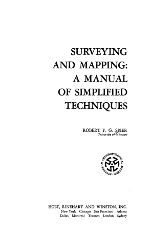 Surveying and Mapping PDF