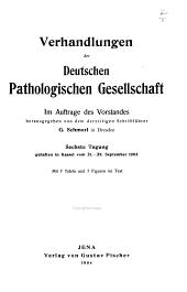Verhandlungen der Deutschen Pathologischen Gesellschaft: Bände 6-8