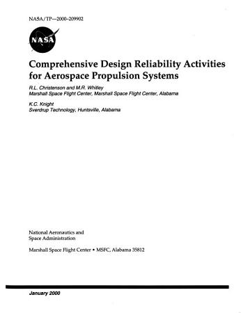 Comprehensive Design Reliability Activities for Aerospace Propulsion Systems PDF