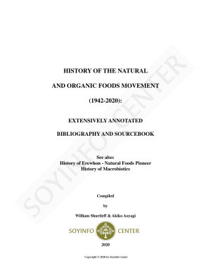 History of the Natural and Organic Foods Movement  1942 2020