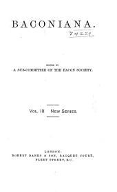 Baconiana: Volumes 3-4