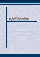 Interfacial Effects and Novel Properties of Nanomaterials PDF