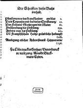Medici Libelli, Des hocherfarnesten Herrn Theophrasti Paracelsi, beyder Artzeney Doctoris: vorhin niemals in Truck ausgangen