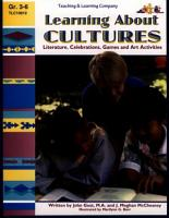 Learning About Cultures  eBook  PDF