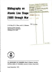 Bibliography on atomic line shapes and shifts (1889 through March 1972)