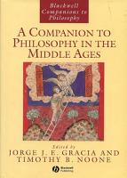 A Companion to Philosophy in the Middle Ages PDF