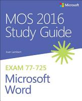 MOS 2016 Study Guide for Microsoft Word PDF