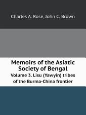 Memoirs of the Asiatic Society of Bengal