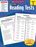 Scholastic Success With Reading Tests  Grade 5 Book