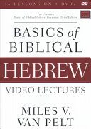 Basics of Biblical Hebrew Video Lectures Book